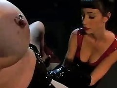 Gothic Girls In Leather Suits Swallow Dicks As Good As They