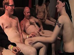 Wild Emo Teen In Her First Gangbang